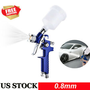 0 8mm Mini Hvlp Air Spray Gun Auto Paint Car Detail Touch Up Sprayer Spot Repair