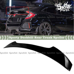 Fits 17 2021 Honda Civic Hatchback Glossy Black High Kick Duckbill Trunk Spoiler
