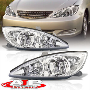 Chrome Clear Driving Head Lights Lamps Assembly Lh Rh For 2002 2004 Toyota Camry
