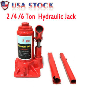 2 4 6 Ton Hydraulic Bottle Jack Motorcycle Garage Shop Heavy Duty Compact Size