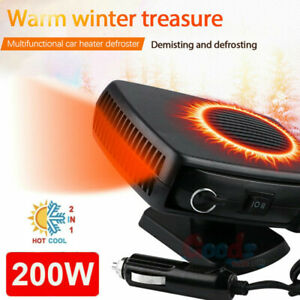 200w Plug In Auto Car Heater Heating Fan Defroster Demister 360 Rotation