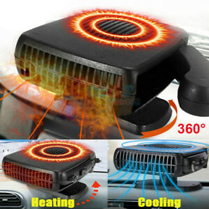 Car Heater Portable Fan Cooler Defroster Defogger Space Automobile Plug 12v 200w