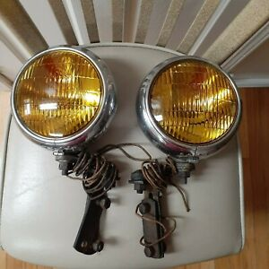 Vintage Fog Lights Auto Lamp 10 Chicago Usa Ford Buick Chevy Olds Stainless Stl