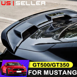 Fits 15 20 Ford Mustang Coupe Gt500 Style Trunk Spoiler Wing Gloss Black Abs Fits Mustang