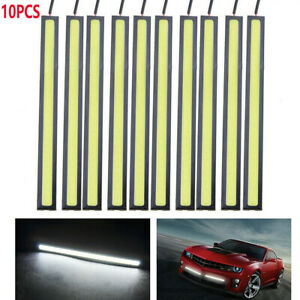 10pcs White Led Cob Strip Drl Daytime Running Lights Fog Car Lamp Waterproof Hot