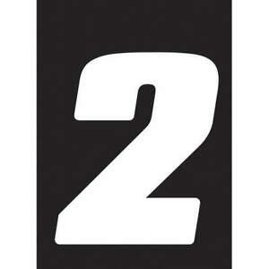 Hardline Products Db73w 2 Number Label wht vinyl 7 In H no 2 pk3