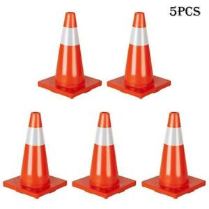 5pcs 18 Traffic Cones Overlap Parking Construction Emergency Road Safety Cone