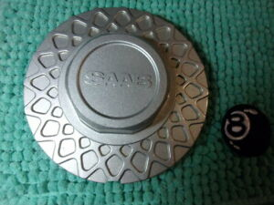 Saab Mesh Silver Wheel Center Cap Part 89040 And 4198360 And 105122352 By Ronal