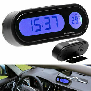 12v Lcd Car Auto Digital Led Electronic Time Clock Thermometer With Backlight Us