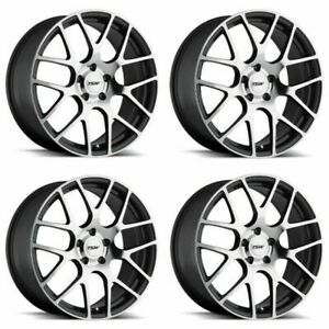 Set 4 18 Tsw Nurburgring 18x9 Gunmetal W Mirror Cut Face 5x4 5 Wheels 32mm Rim