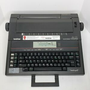 Portable Brother Ax 25 Electronic Typewriter word spell Lcd Screen Tested
