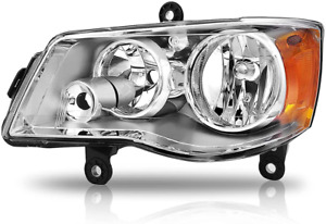 For 2011 2017 Dodge Grand Caravan Chrome Headlights Driver Side Waterproof Fits 2011 Chrysler Town Amp Country