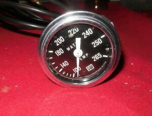 Vintage Stewart Warner 2 1 8 100 265 White Needle Mech Water Temp Gauge 57