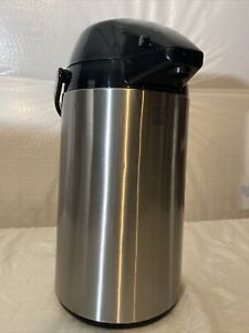 Allgo Airport Coffee Dispenser With Pump Insulated Stainless Steel 2 5 Liter
