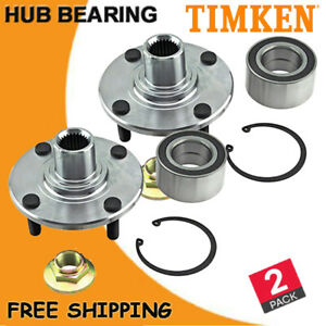 Pair 2 Timken Front Wheel Hub Bearing Assembly For 2000 2010 2011 Ford Focus