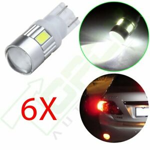 6x Cree Projector High Power 921 168 T10 2825 Led License Light White Bulb