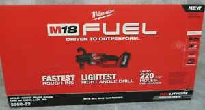 New Milwaukee 2808 22 M18 Fuel Hole Hawg Right Angle Drill W quik lok Kit
