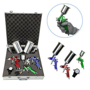 Mini Air Spray Gun Hvlp Auto Car Detail Touch Up Paint Sprayer Spot Repair Us