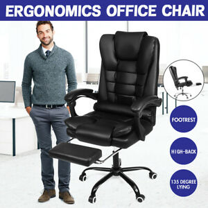 High Back Massage Office Chair Recliner Computer Gaming Chairs Leather Desk Seat