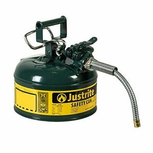 One Gal Gas Can For Container 1 Gallon Gl Diesel Oil Small Sturdy Metal Storage