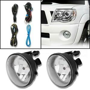 Clear Bumper Fog Light Lamp W wiring Bulb Left right For 2005 2011 Toyota Tacoma