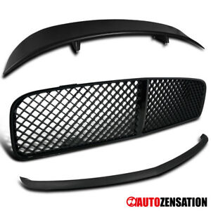 For 2006 2010 Dodge Charger Black Hood Grill front Bumper Lip trunk Spoiler Wing