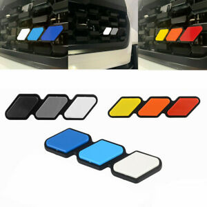 Tri Color 3 Grille Badge Emblem Grill For Toyota Tacoma Sequoia Tundra Trd Rav4