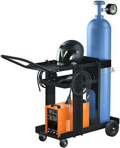 Reliancer 3 tier Rolling Welding Cart Mig Tig Arc Plasma Cutter Machine Heavy 2