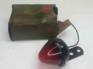 Nos Beehive Pm Co 110 Tail Brake Stop Clearance Light Pair Vintage Rat Rod Red