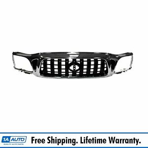 Front Chrome Black Grille Grill For 01 04 Toyota Tacoma Pickup Truck