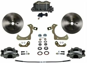 Leed Brakes Fc1010 305 Front Disc Brake Kit W Factory Spindles Chevy Tri five G