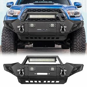 Front Bumper Guard Protector D Rings Led Lights Mount For Toyota Tacoma 05 15