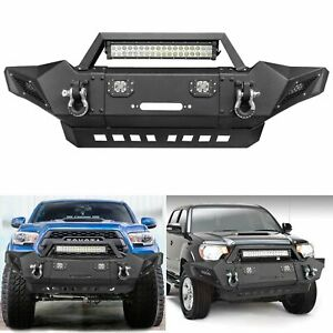 Front Bumper Guard Led Lights For 2005 2015 Toyota Tacoma Complete Assembly