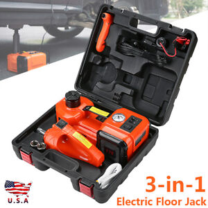 12v 5t 3 in 1 Car Electric Hydraulic Floor Jack With Impact Wrench Tire Tool Kit