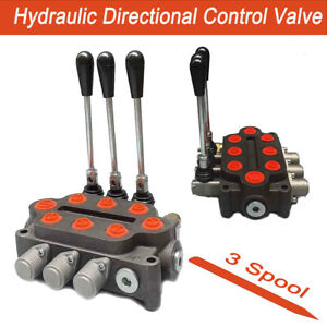 Monoblock Hydraulic Directional Control Valve 3 Spool 25 Gpm 3000 Psi Us