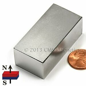 Powerful Neodymium Magnet Block N45 2 X 1 X 3 4 Rare Earth Magnet