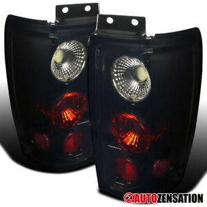 For 1997 2002 Ford Expedition Glossy Black Smoke Tail Brake Lights Reverse Lamps