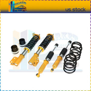 For 1994 2004 Ford Mustang Coilovers Shocks Suspension Spring Kits Adj Height