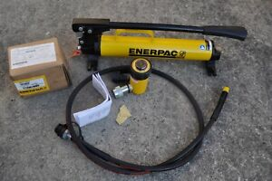 Enerpac P 39 Hydraulic Hand Pump Rc102 Cylinder With Hose