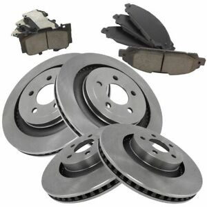 Front Rear Posi Ceramic Brake Pads Rotor Kit For Ford Mustang New