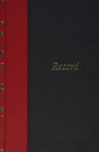 Boorum Pease 96304 Record account Book Black red Cover 144 Pages 5 1 4 X 7