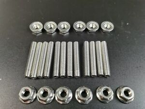 Polished Stainless Bolt Sbf Valve Cover Stud Kit 289 302 351w Small Block Ford