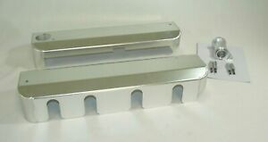 Gm Ls Fabricated Aluminum Coil Covers Clear Anodized For Oem Valve Covers