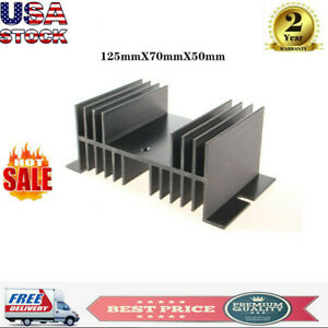 1pcs Replacement Ssr Solid State Relay Single phase Heat Sink Black