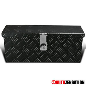 20 Heavy Duty Black Aluminum Tool Box Truck Storage Trailer Organizer Lock Keys