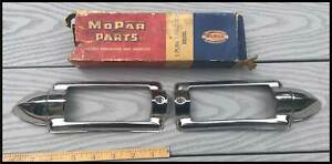 Nos 1946 1948 Plymouth Grille Bar Light Pair 1947 P15 Special Deluxe Convertible
