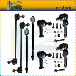 Fits For 2006 2011 Ford Focus Inner Outer Tie Rod Ends Sway Bar End Kit 8pieces
