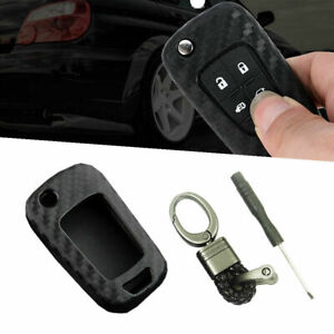 Car Key Case Cover Remote For Chevrolet Trax 2014 2018 Carbon Fiber Look Fob