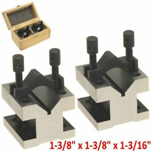 2 Pc V block Reversible Clamp Bar Double Sided 90 Precision Hardened 1 3 8