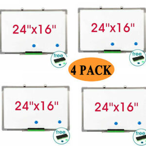 Magnetic Whiteboard 24 X 16 Inch Dry Erase White Board Wall Hanging Board Set